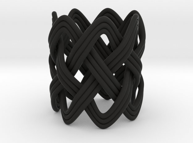 Turk's Head Knot Ring 4 Part X 7 Bight - Size 2.5 3d printed