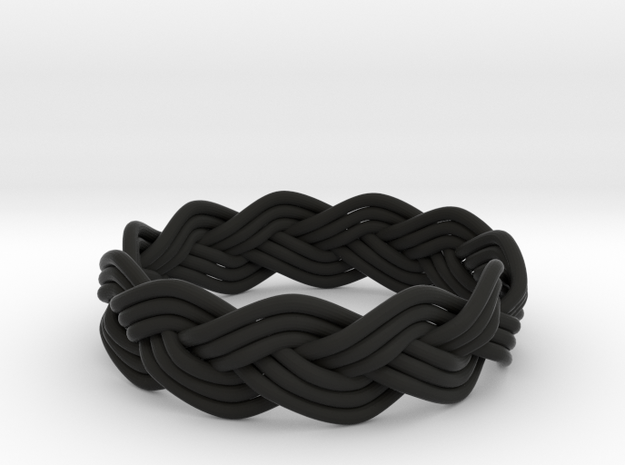 Turk's Head Knot Ring 3 Part X 11 Bight - Size 12. 3d printed