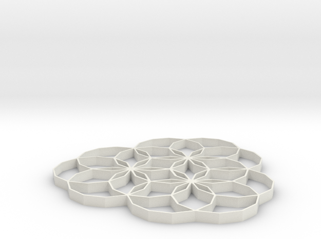 Charm Flower 2 inch 3d printed
