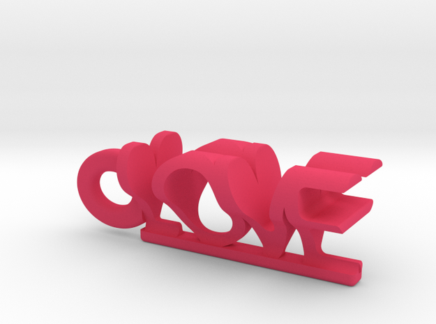 love and heart pendant 3d printed