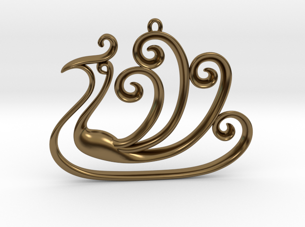 The Peacock Pendant 3d printed