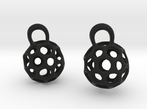 Honeycomb earring charms 3d printed