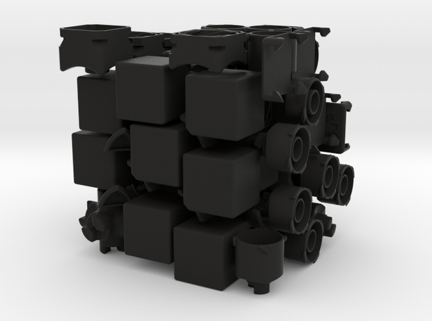 4D-Time Cube Full set 3d printed