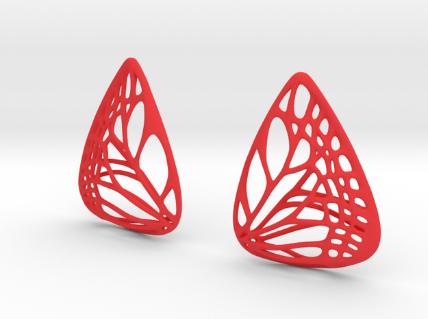 Colorful Butterfly Earrings (L) 3d printed
