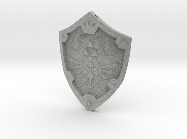 Hylian Shield Keychain/Necklace 3d printed