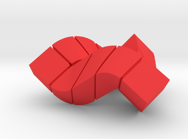 Impossible Triangle, Cubed & Compact 3d printed