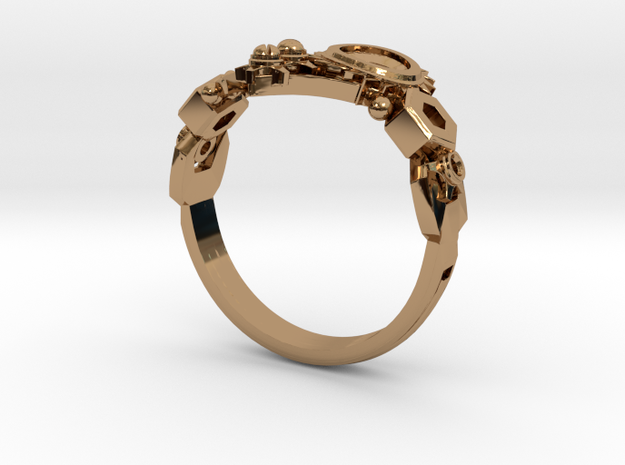 Mech Heart Ring Size 10 3d printed
