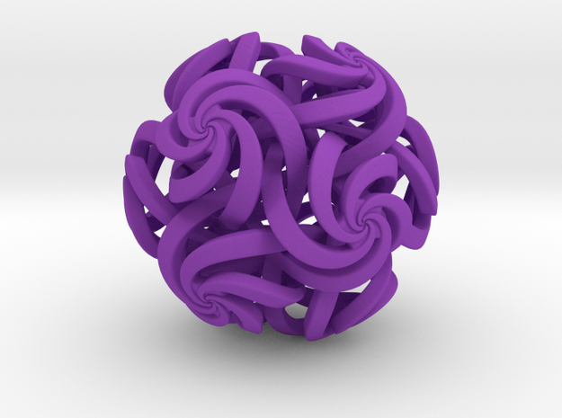 Rhombic Triacontahedron IV, medium 3d printed