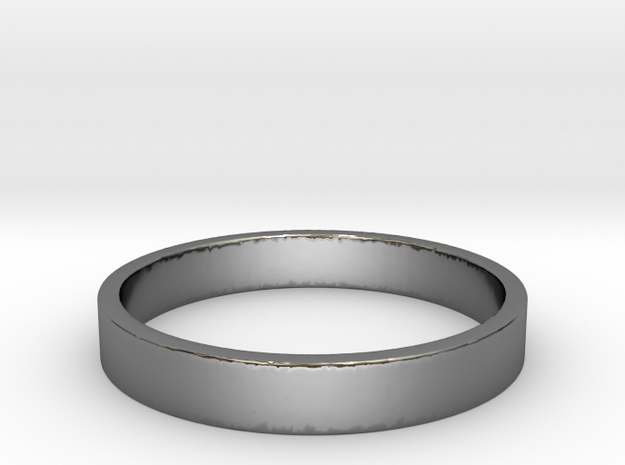 simple silver ring Ring Size 7 3d printed