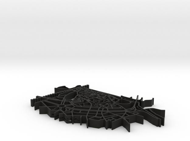 Map of Nijmegen 3d printed