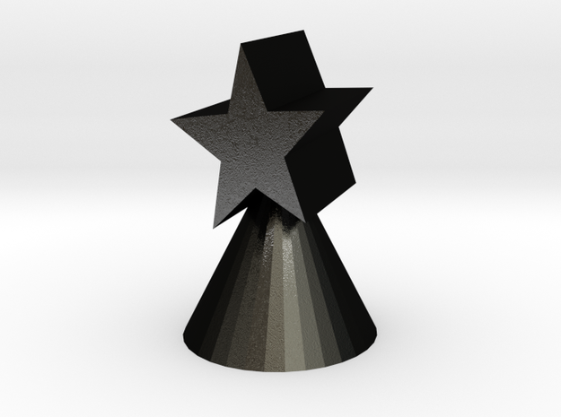 Xmas star ornament for small trees 3d printed