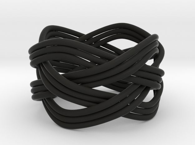Turk's Head Knot Ring 4 Part X 4 Bight - Size 7 3d printed
