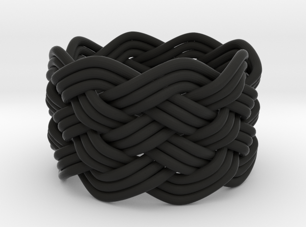 Turk's Head Knot Ring 6 Part X 8 Bight - Size 6 3d printed