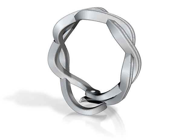 One strand twist ring 3d printed