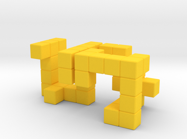 Tangler Puzzle 3d printed