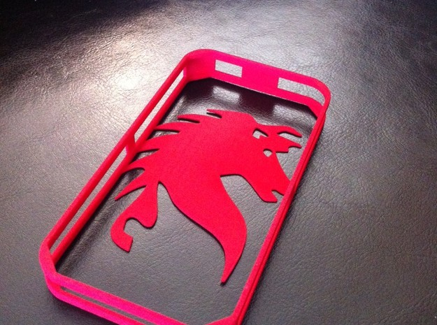 iPhone 4 - REDHORSE Bumper 3d printed