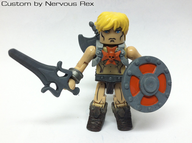 He-Man's Shield scaled for Lego 3d printed Custom Minimate by Nervous Rex
