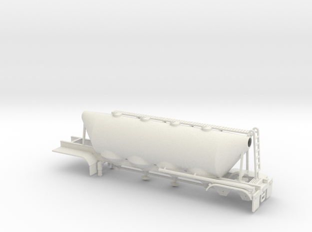 1/50 Dry Bulk Trailer 01a, Cement 3d printed