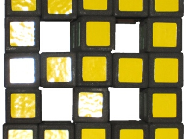 Grid Cube 3d printed Top view