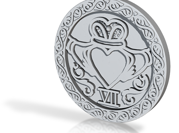 claddagh pendant complete 3d printed