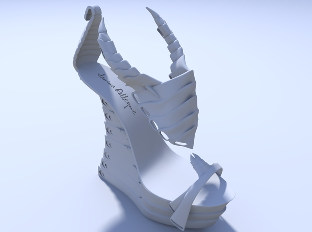Janina Alleyne - Scorpion Shoe (Bottom) 3d printed Render 2