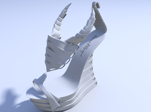 Janina Alleyne - Scorpion Shoe (Top) 3d printed Render 1