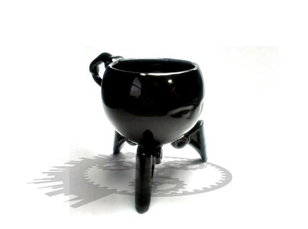 T-Cup01 | Robot Teacup 3d printed Back View