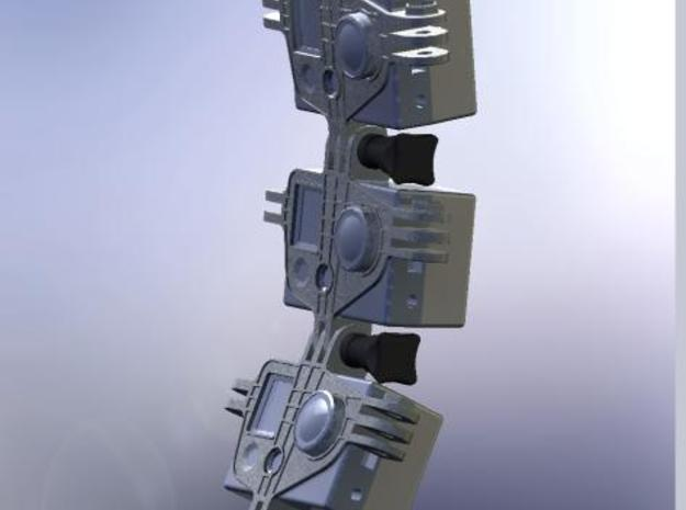 GoPro Multi Mount 3d printed Possible use as a vertical linear Matrix