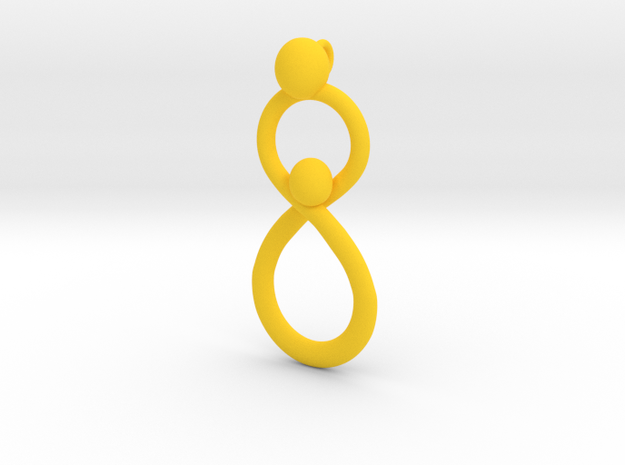 Infinite Mother And Child Pendant 3d printed