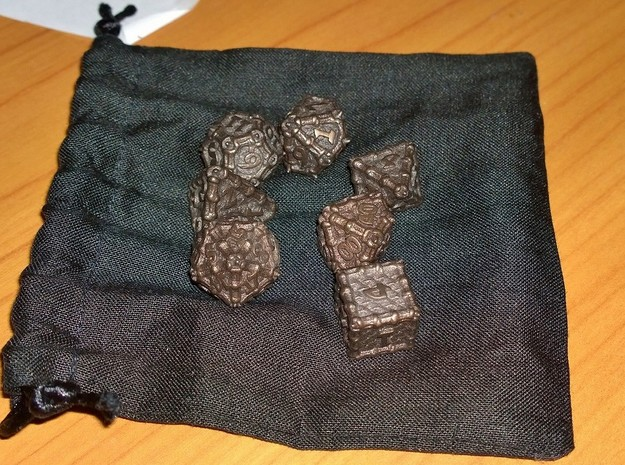 Dragon Dice Set 3d printed Customer photo of Matte Bronze Steel