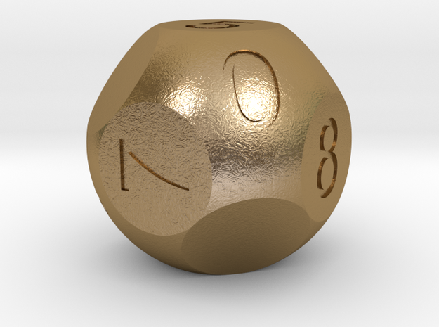 D10 3-fold Sphere Dice 3d printed