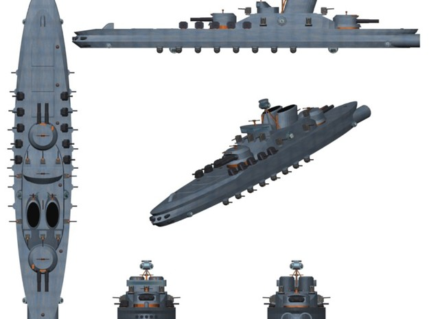 Aerial Sovereign 1:2400 x4 3d printed Render
