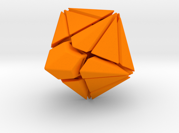 Fracture-10 Puzzle 3d printed