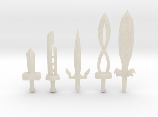 Sword Pack II 3d printed