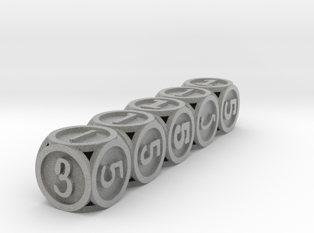 Font Yatzy -game 3d printed