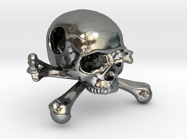 25mm 1in Bead Skull & Bones Pendant Crane