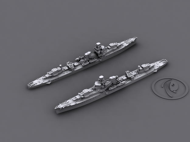 1/1800 IJN CL Yubari[1941] 3d printed 3D software render