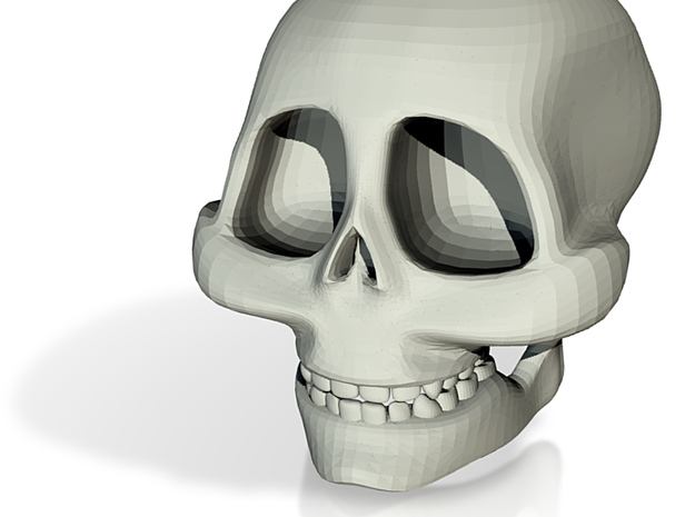 cartoon skull 3d printed
