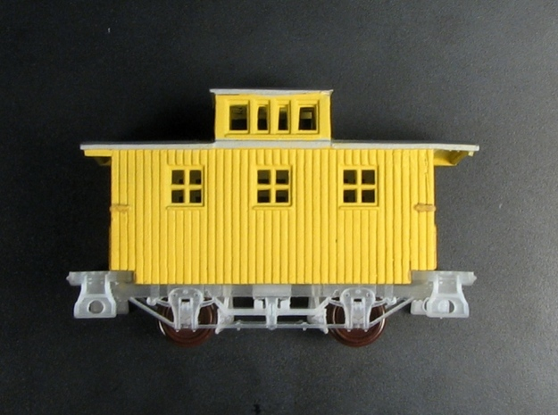 R24ab New N Chassis for Bachmann Bobber Caboose x4 3d printed R24b cast steps
