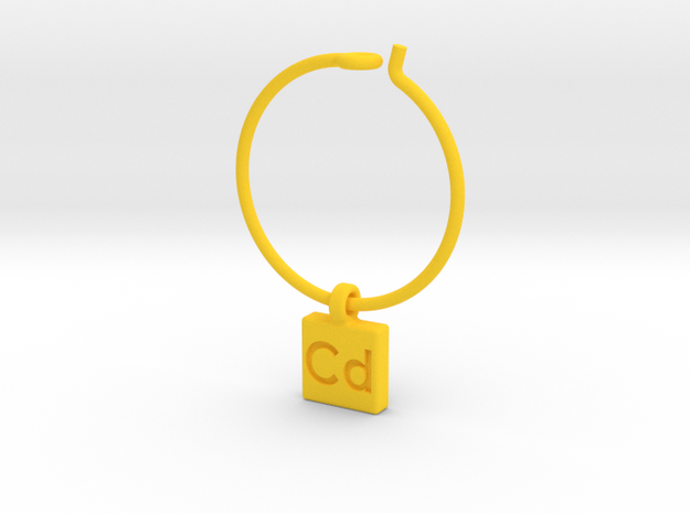 Element Wine Charm - Cd 3d printed