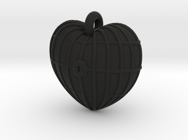 The Barred Heart 3d printed