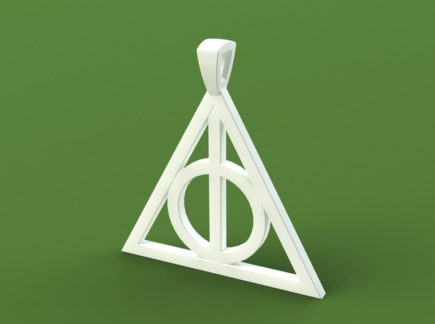 Deathly Hallows Necklace 3d printed Render