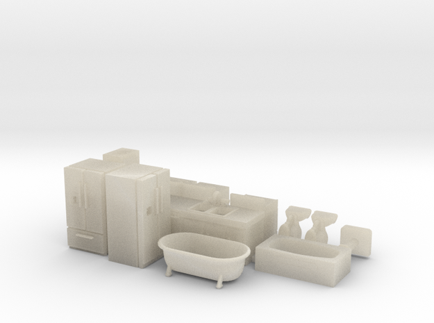 Kitchen and Bath Stuff HO Scale 3d printed