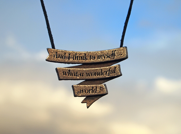 Wonderful Banner Pendant 3d printed