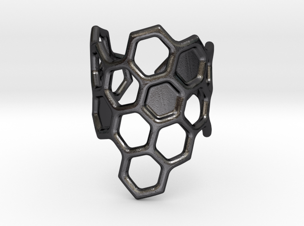 Honeycomb Ring 3d printed
