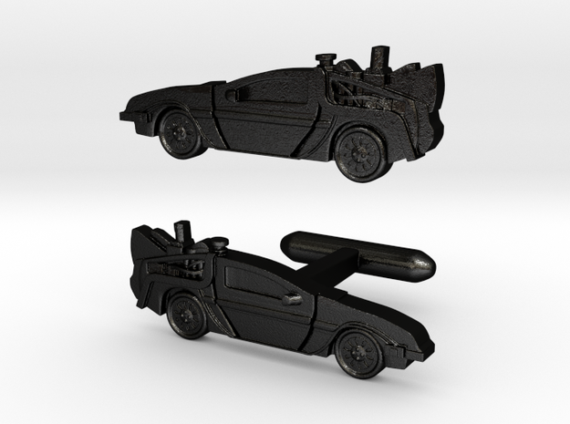 Back to the Future's Delorean: cufflinks 3d printed