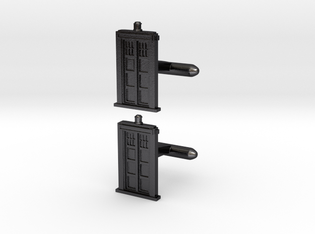 Doctor Who: TARDIS Cufflinks 3d printed