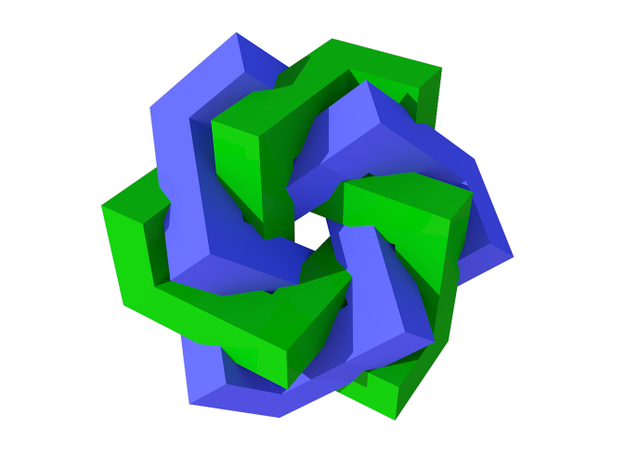 Cubic Trefoil Knot Tangled 3d printed