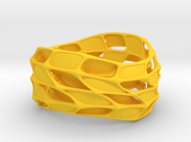 Panel Twist Bracelet (sz M/L) 3d printed