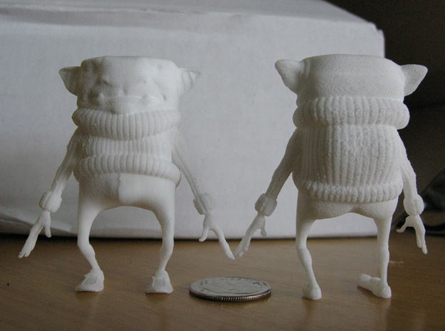 Sweater Goblin (small) 3d printed White Strong & Flexible